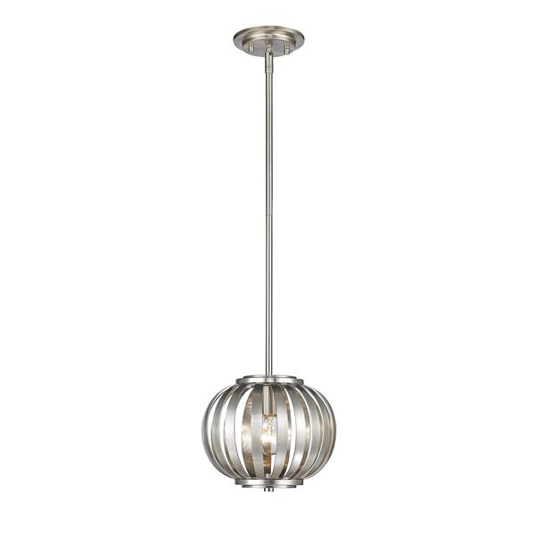 Z-Lite Moundou 1-Light Mini Pendant Light - Nickel