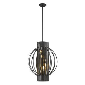 Z-Lite Moundou 6-Light Pendant Light - Bronze