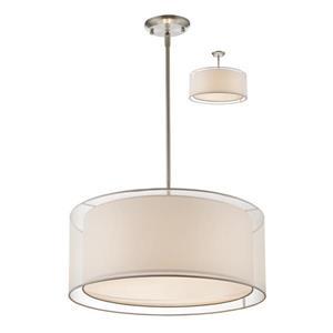 Luminaire suspendue à 3 lumières «Sedona», nickel brossé