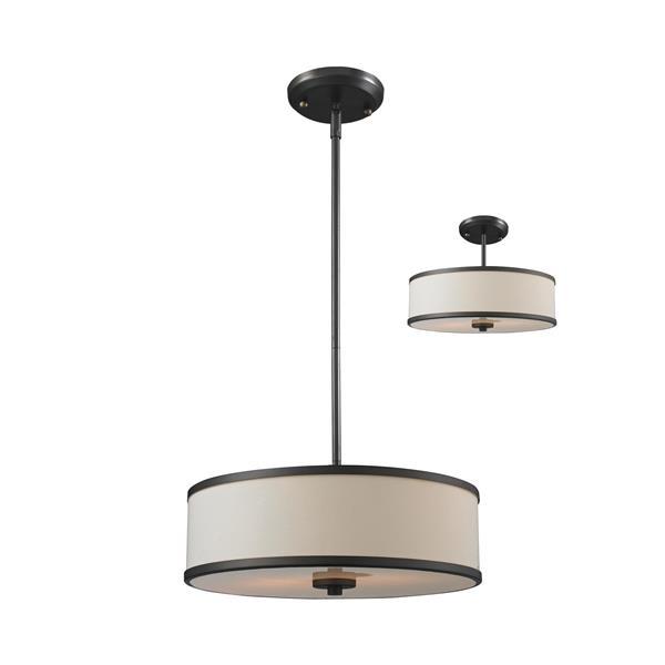 Z-Lite Cameo 3-Light Convertible Pendant Light - Bronze