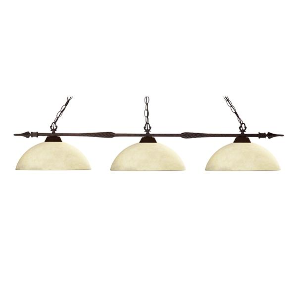 Z-Lite Aztec 3-Light Kitchen Island/Billiard Light - Bronze