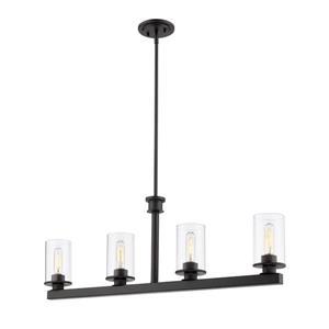 Luminaire contemporaine à 4 lumières «Savannah», bronze