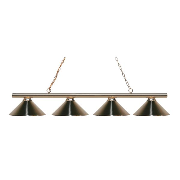 Z-Lite Sharp Shooter 4-Light Kitchen Island Light - Brass