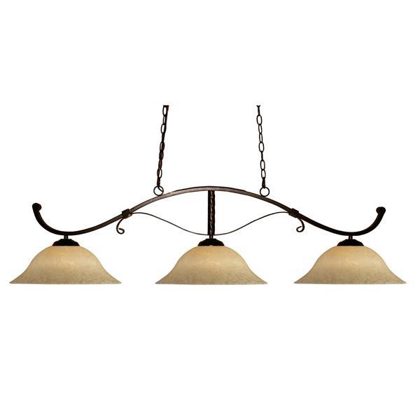 Luminaire nautique à 3 lumières «Howler», Bronze