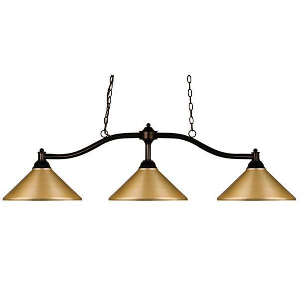 Z-Lite Chance Traditional 3-Light Billiard Light - Bronze