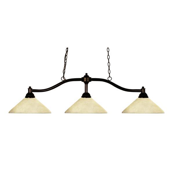 Luminaire traditionnel à 3 lumières «Chance», bronze