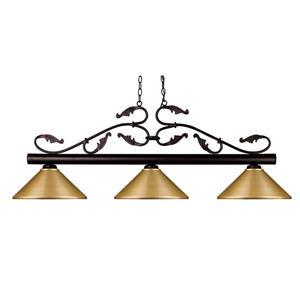 Luminaire nautique à 3 lumières «Bourbon», bronze