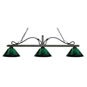Z-Lite Melrose Nautical 3-Light Billiard Light - Bronze