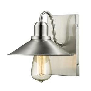 Z-Lite Casa 1-Light Wall Sconce - Brushed Nickel