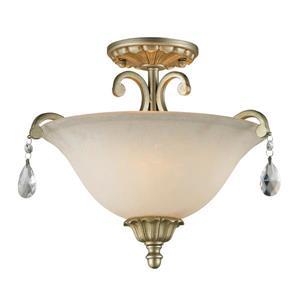 Plafonnier semi-encastré à 3 lumières «Melina», argent