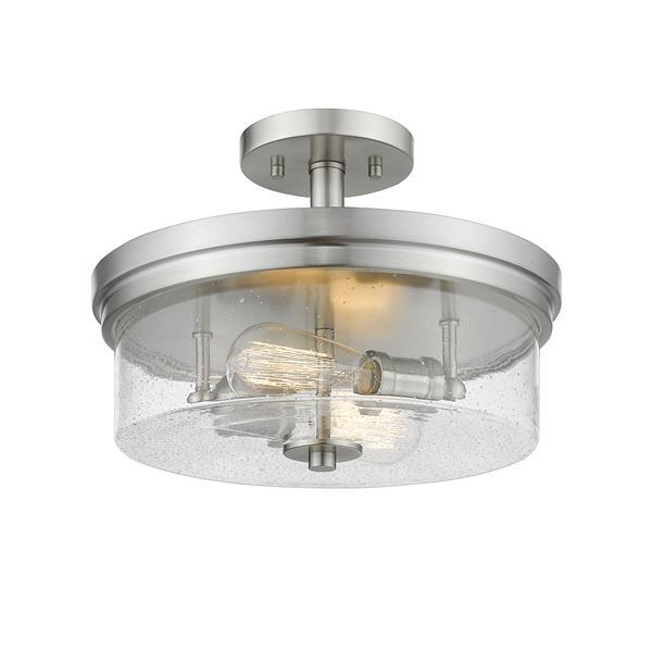 Z-Lite Bohin 2-Light Semi Flush Mount - Brushed Nickel