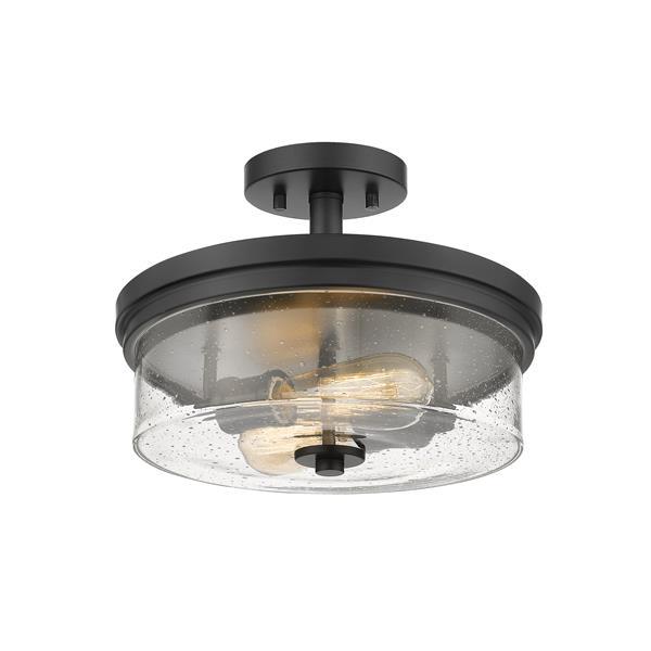 Z-Lite Bohin 2-Light Semi Flush Mount - Matte Black