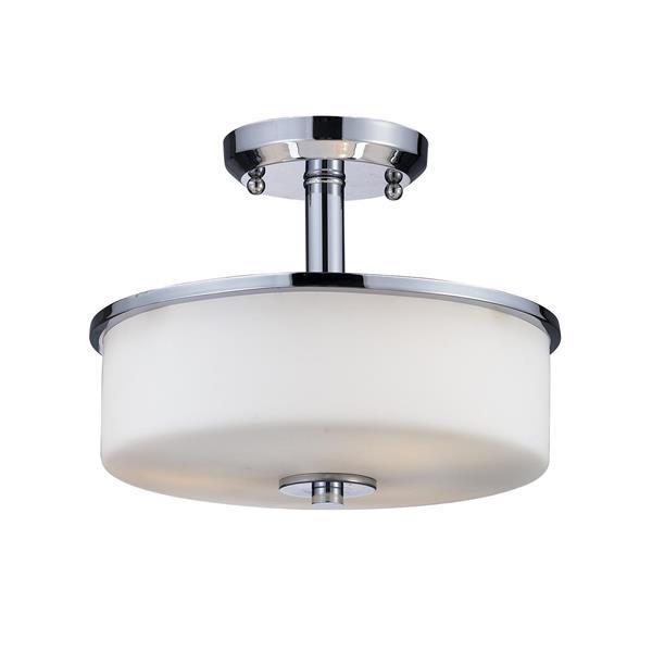 Plafonnier semi-encastré à 3 lumières «Ibis», chrome