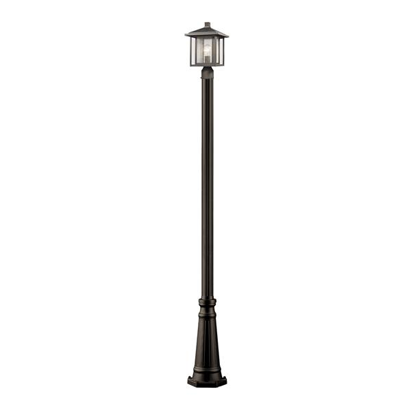 Z-Lite Aspen 1- Light Outdoor Post Light - Bronze
