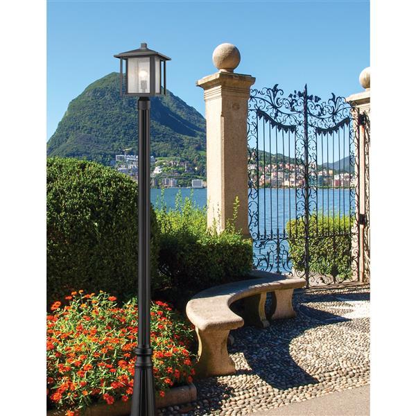 Z-Lite Aspen 1-Light Outdoor Post Light - Black