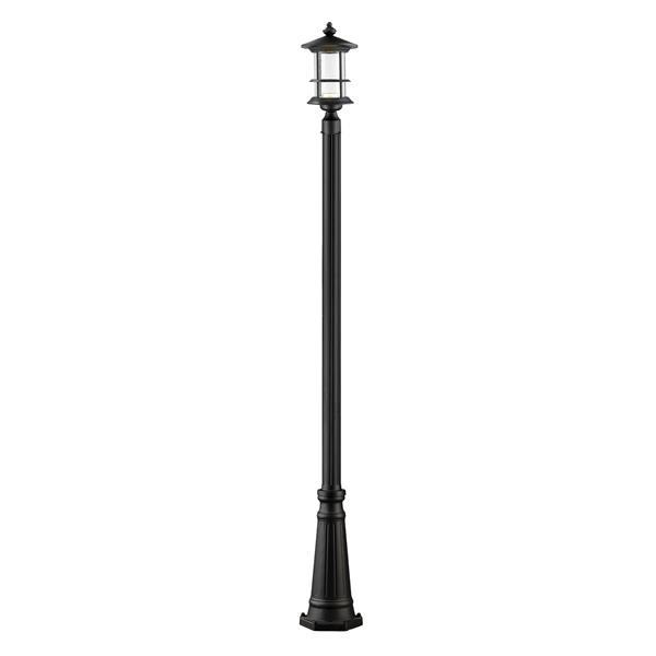 Z-Lite Genesis Outdoor LED Post Light - Black