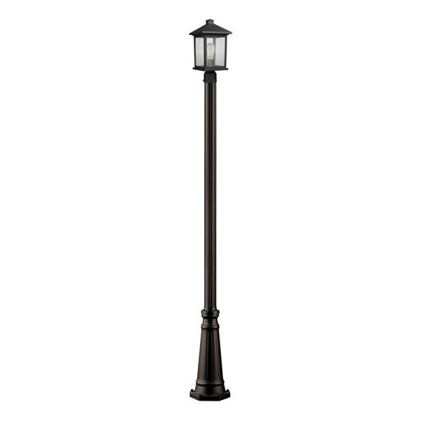 Z-Lite Portland 1-Light Outdoor Post Light - Bronze
