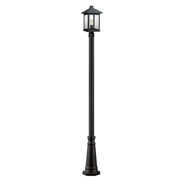 Z-Lite Portland 1-Light Outdoor Post Light - Black