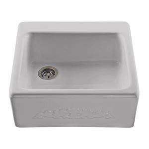 Reliance Hatfield Single Sink - 22.25-in x 9.25-in  - Acrylic - Silver