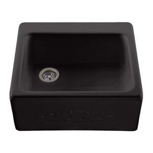 Reliance Hatfield Single Sink - 22.25-in x 9.25-in - 2 Holes - Black