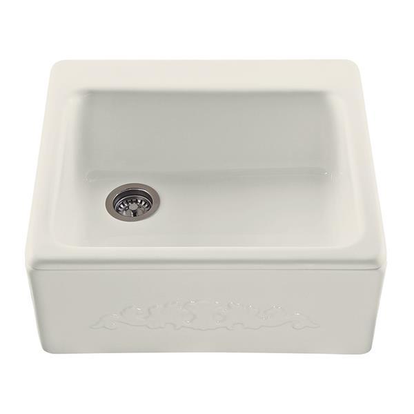 "Hatfield Single Sink - 22.25"" x 9.25"" - Acrylic - Biscuit"