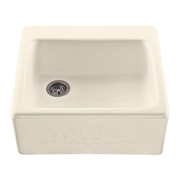 "Hatfield Single Sink - 22.25"" x 9.25"" - Acrylic - Ivory"