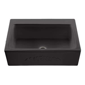 Reliance McCoy Single Sink - 22.25-in x 9.25-in - 3 Holes - Black