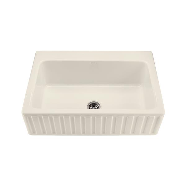 Reliance McCoy Single Sink - 22.25-in x 9.25-in - Acrylic - Biscuit