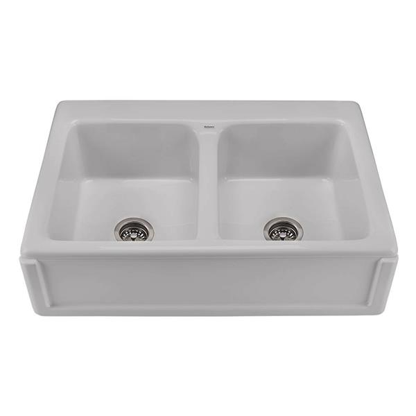 Reliance Appalachian Double Sink - 22.25-in x 8-in - 1 Hole - Silver