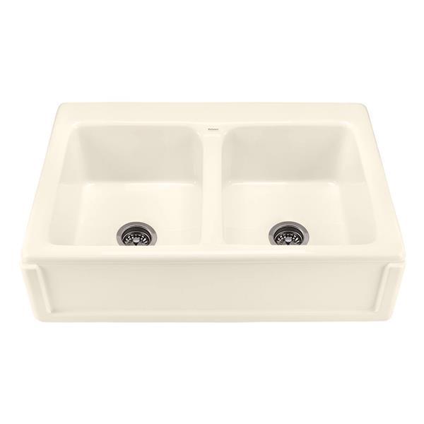 "Appalachian Double Sink - 22.25"" x 8"" - 1 Hole - Off-White"