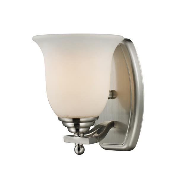 Z-Lite Lagoon 1-Light Vanity Light - 6-in - Metal - Nickel