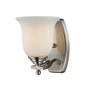 Z-Lite Lagoon 1-Light Vanity Light - 6-in - Metal - Nickel