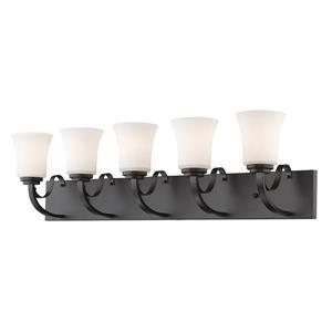 Z-Lite Halliwell 5-Light Vanity Light - 38.25-in - Bronze