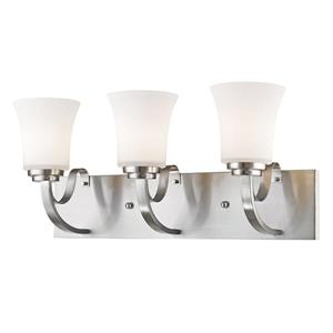Z-Lite Halliwell 3-Light Vanity Light - 22-in - Metal - Nickel