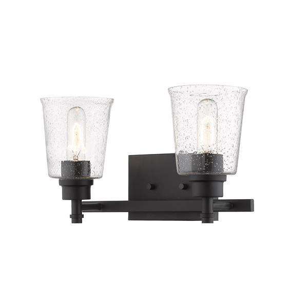 Z-Lite Bohin 2-Light Vanity Light - 16-in - Metal - Black