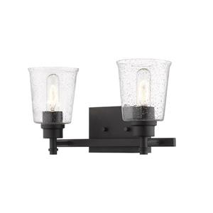Z-Lite Bohin 2-Light Vanity Light - 16-in - Metal - Black