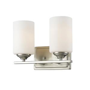Z-Lite Bordeaux 2-Light Vanity Light - 11.37-in - Metal - Nickel
