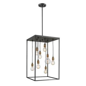 Z-Lite Troubadour 8-Light Pendant - 20-in - Metal - Bronze
