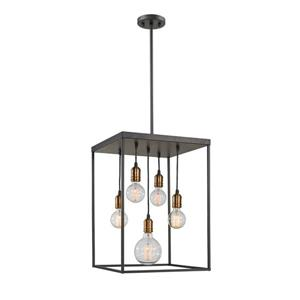 Z-Lite Troubadour 5-Light Pendant - 16-in - Metal - Bronze