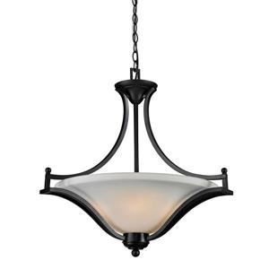 Z-Lite Lagoon 3-Light Pendant - 24-in - Glass - Bronze