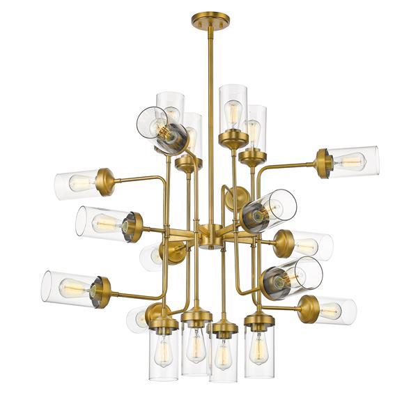 Z-Lite Calliope 20-Light Pendant - 42-in - Glass - Clear