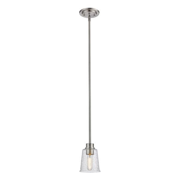 Z-Lite Bohin 1-Light Pendant - 5-in - Glass - Nickel