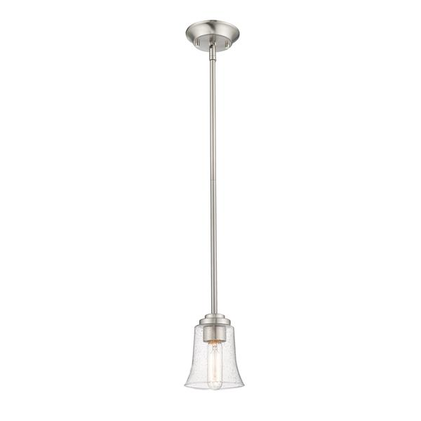 Z-Lite Halliwell Pendant - 1 Light - 5.25-in - Glass - Nickel