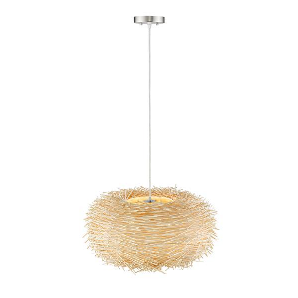 Z-Lite Sora 6-Light Pendant - 30-in - Fabric - Natural