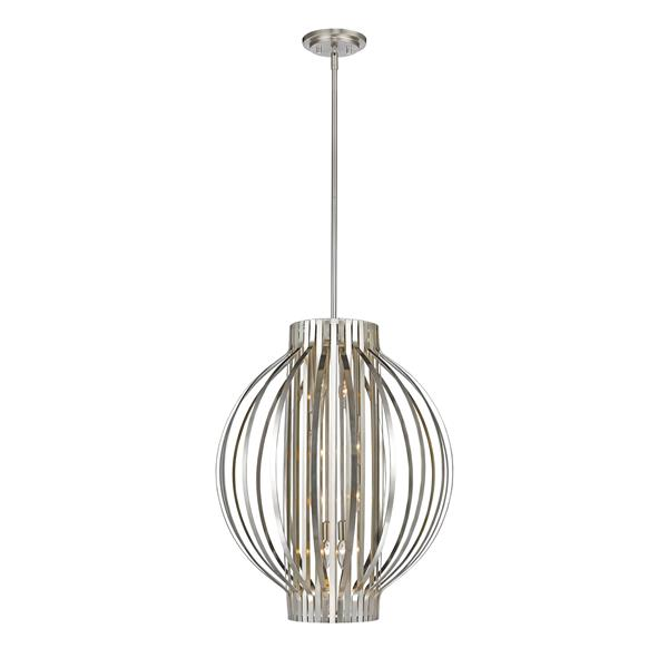 Z-Lite Moundou 8-Light Pendant - 24-in - Metal - Nickel