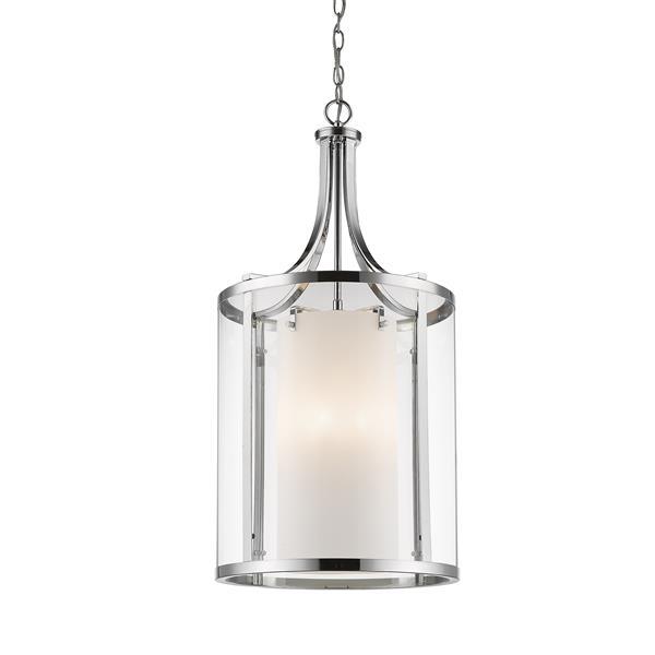 Z-Lite Willow 8-Light Pendant - 16-in - Glass - Chrome