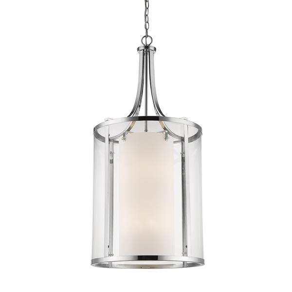 Z-Lite Willow 12-Light Pendant - 18-in - Glass - Chrome