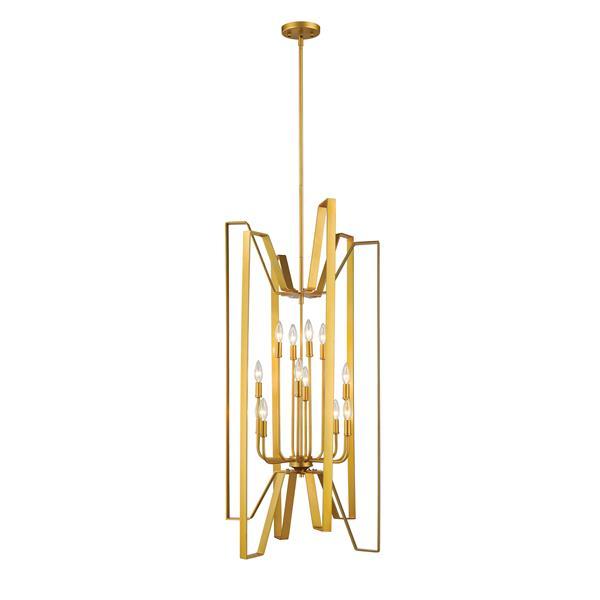 Z-Lite Marsala 12-Light Pendant - 22-in - Metal - Gold