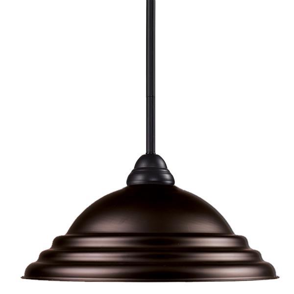 Z-Lite Riviera 1-Light Pendant - 16-in - Metal - Bronze
