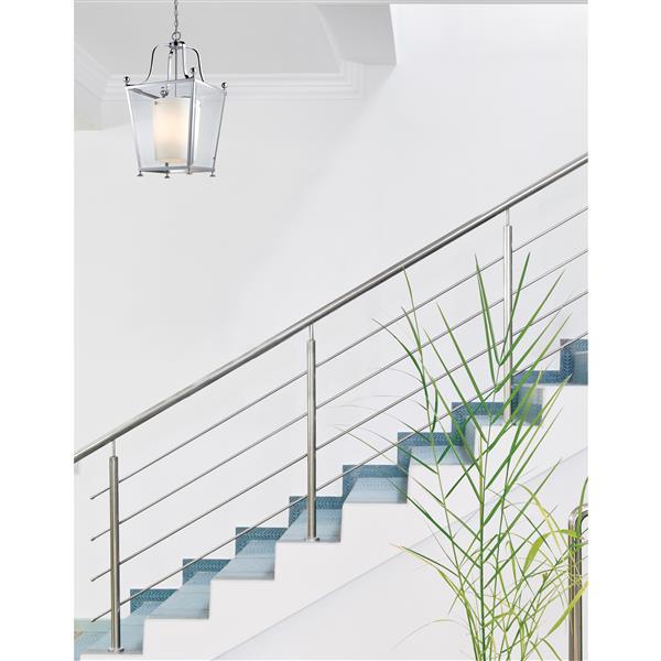 Z-Lite Ashbury 8-Light Pendant - 21-in - Glass - Chrome
